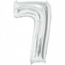 """Цифра фольгированная серебро """"7"""", 75 см"""