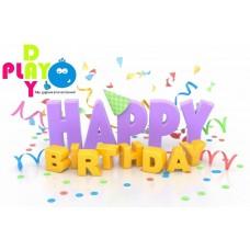 Магнит на холодильник С Днем Рождения ( Happy Birthday )