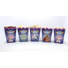 Коробки для попкорна Робокар Поли