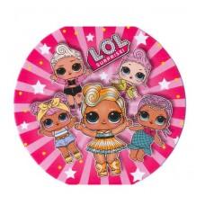 Картонные наклейки Куклы ЛОЛ LOL, 10шт