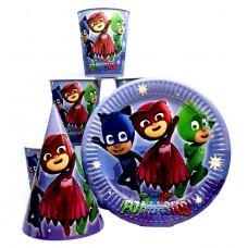 Набор посуды для праздника Герои в масках (pj masks)