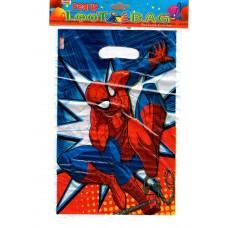 Пакеты для подарков Человек паук 10 шт/уп