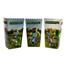 Коробки для попкорна Майнкрафт (Minecraft)