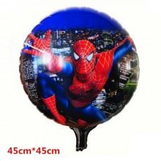 Фольгированный шарик Человек Паук, круглый, 45см