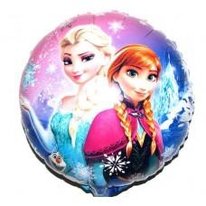Фольгированный шарик Холодное Сердце, круглый, 45см