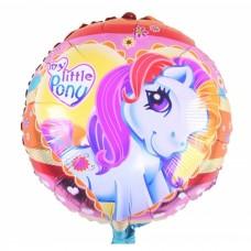 Фольгированный шарик Маленький Пони, круглый, 45см