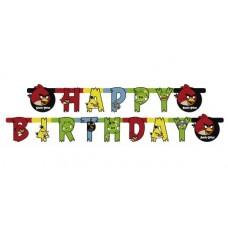 Гирлянда-буквы Happy Birthday Angry Birds