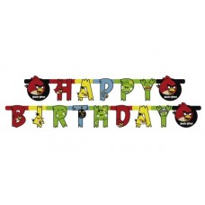 Гирлянда-буквы Happy Birthday Angry Birds