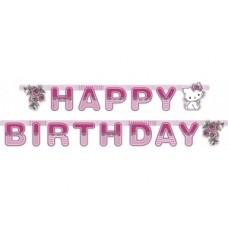 Гирлянда-буквы Happy Birthday Китти