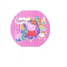 Картонные наклейки Свинка Пеппа, 10шт