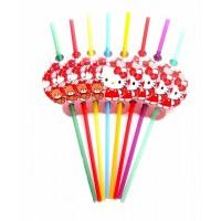 Коктейльные трубочки Hello Kitty 8шт/уп