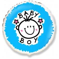 Шар фольга Baby Boy, 45см, круглый