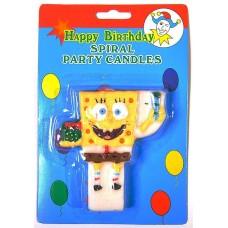 Свеча для торта Губка Боб