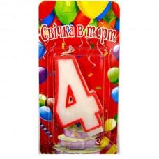 Свеча на торт цифра 4