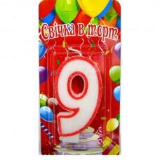 Свеча на торт цифра 9