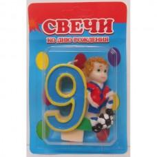 Свеча на торт цифра Футбол 9