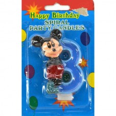 Свеча на торт цифра Микки Маус 8