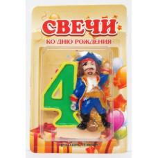 Свеча на торт цифра Пираты 4