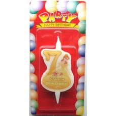 Свеча на торт цифра Принцессы 7