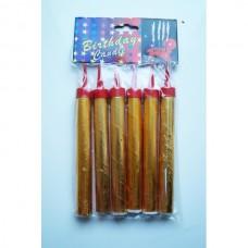 Свечи в торт фейерверк 12см (6 шт/уп)