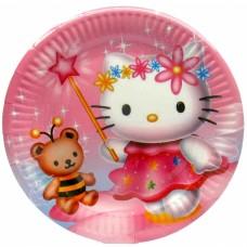 Тарелки одноразовые Hello Kitty 10 шт/уп