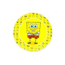 Тарелки одноразовые Губка Боб 10 шт/уп