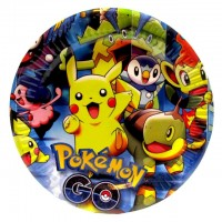 Тарелки Покемон Pokemon 10 шт/уп