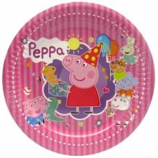 Тарелки Свинка Пеппа розовые, 10шт/уп