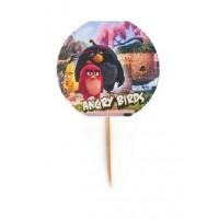 Топпер  для капкейков, кексов Angry birds