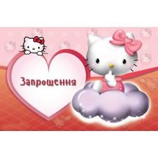 Запрошення Hello Kitty 10шт/уп