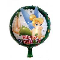 Фольгированный шарик -  Феи Динь динь, круглый, 45см
