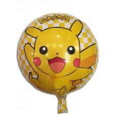 Фольгированный шарик -  Покемон (pokemon), круглый, 45см