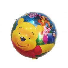 Фольгированный шарик -  Винни Пух, круглый, 45см